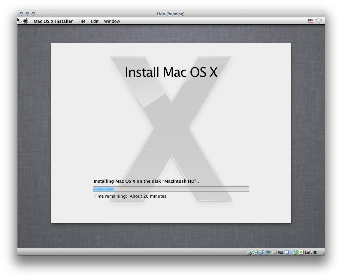 OS X Lion as a virtualbox guest
