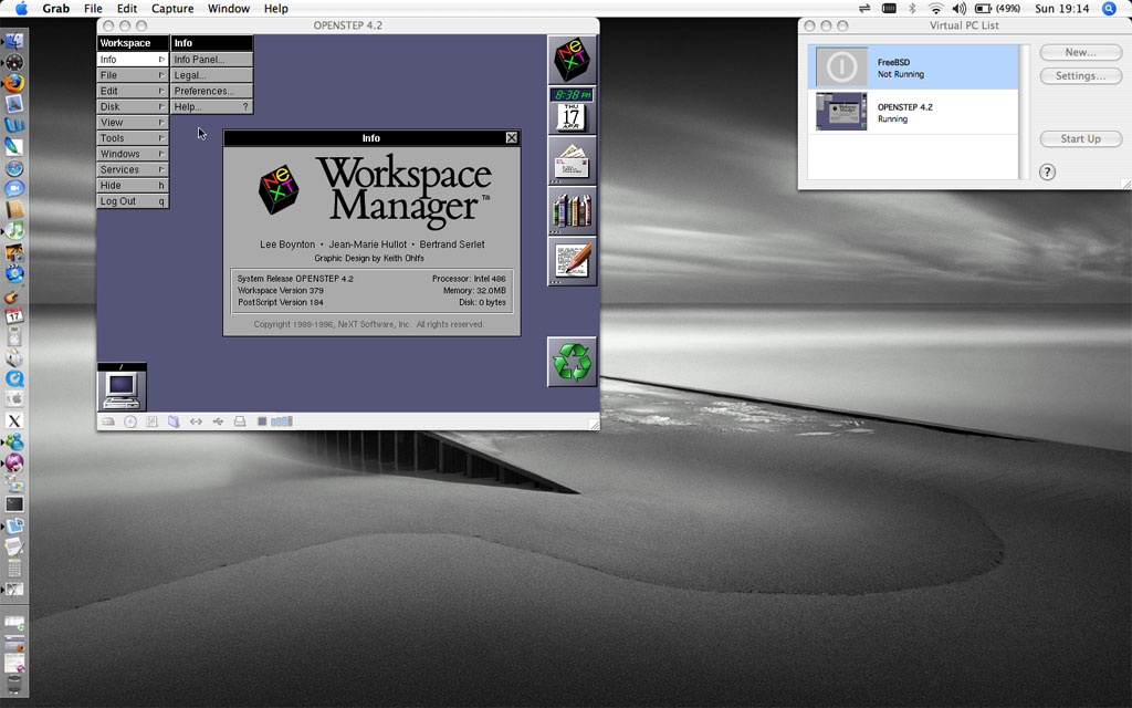 OPENSTEP running on VirtualPC