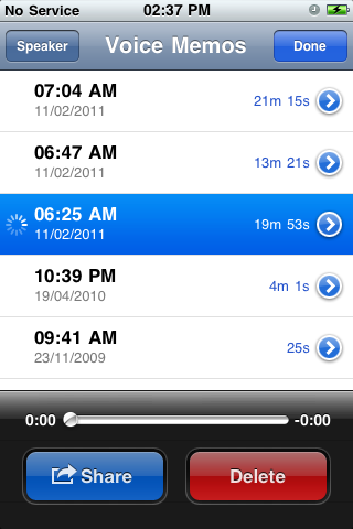 Voice Memos.app processing recording, converting from mov to m4a file